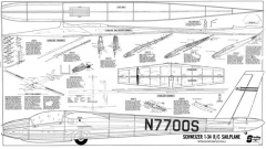 Schweizer SGS 1-34 Sailplane model airplane plan