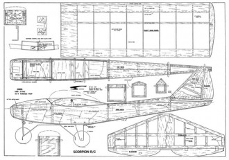Scorpion model airplane plan