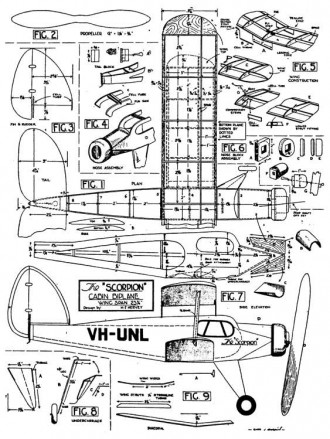 Scorpion 23in model airplane plan