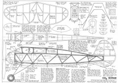 Scram 3 model airplane plan