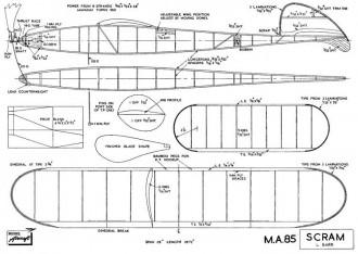 Scram model airplane plan