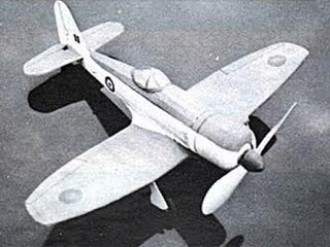 Sea Fury model airplane plan