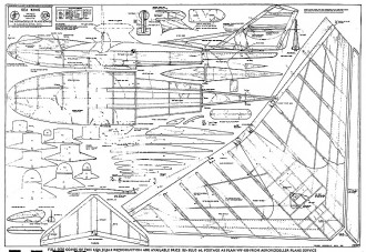 Sea King model airplane plan