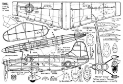 Curtiss SO3C Seagull model airplane plan