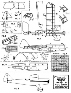 Seagull 30in model airplane plan
