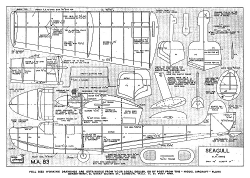 Seagull MA Oct 50 model airplane plan