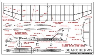 Searcher-39 Ser1M model airplane plan