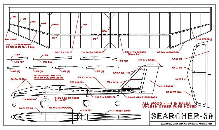 Searcher-39 Ser1M model airplane plan