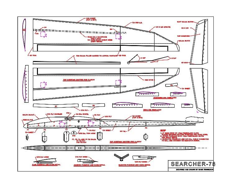 Searcher-78 Ser2M model airplane plan