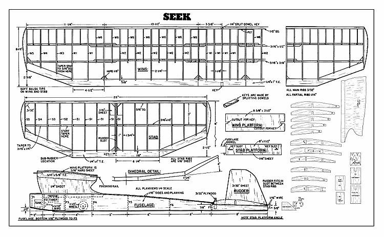 Seek Plan model airplane plan