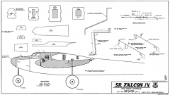 Senior Falcon IV RCM-660 model airplane plan