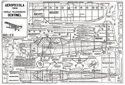 Sentinel CL model airplane plan