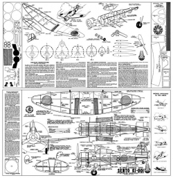 Sento KI-001 model airplane plan