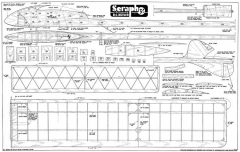 Seraph Glider model airplane plan