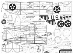 Seversky P-35 Pursuit model airplane plan