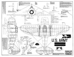 Seversky P-35 2 model airplane plan