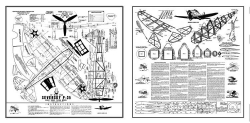 Seversky P-35 Ace Whitman model airplane plan
