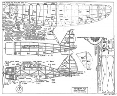 Seversky P-35 FA 1938 model airplane plan