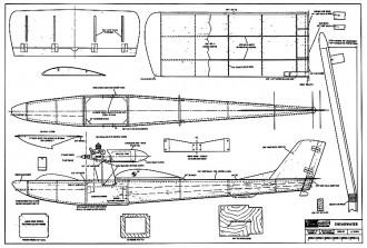Shearwater 39in model airplane plan