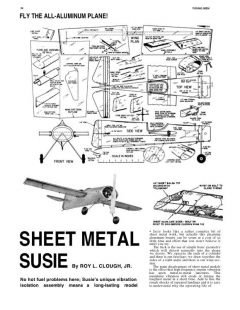 Sheet Metal Susie model airplane plan