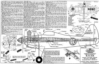 Shoestring Racer model airplane plan