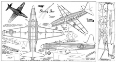 Shooting Star P-80 model airplane plan