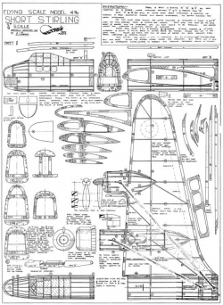 Short Stirling model airplane plan