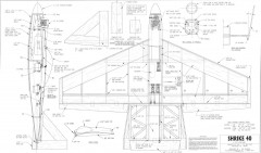 Shrike40 model airplane plan