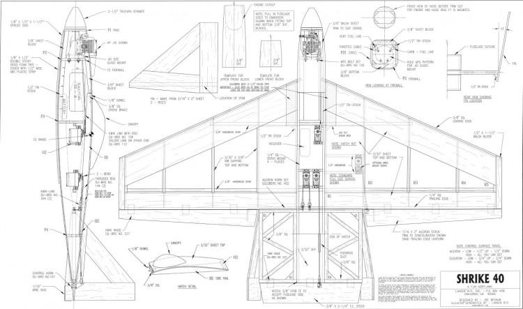 Shrike40 model airplane plan