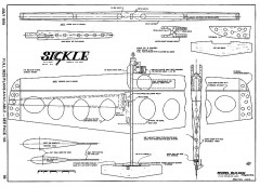 Sickle CL combat model airplane plan