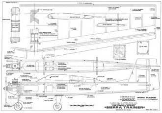 Sierra Trainer model airplane plan