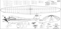 Silver Gull model airplane plan