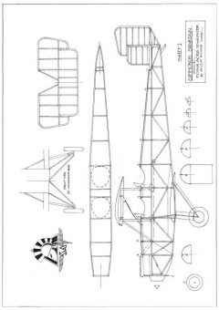 Simmonds Spartan model airplane plan