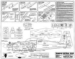 Simple Extra 230 model airplane plan