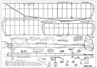 Simple SAM-FM 10-11-1962 model airplane plan