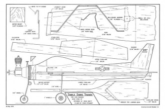 Simple Sabre Trainer-AAM-05-72 model airplane plan