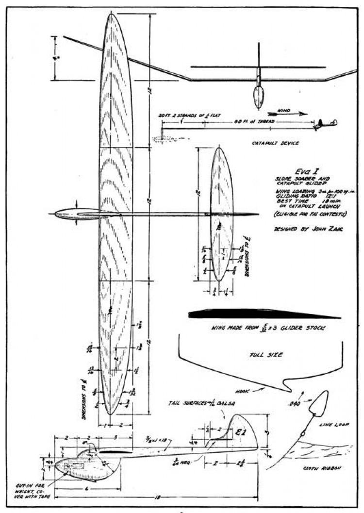 Simple Soarer p1 model airplane plan