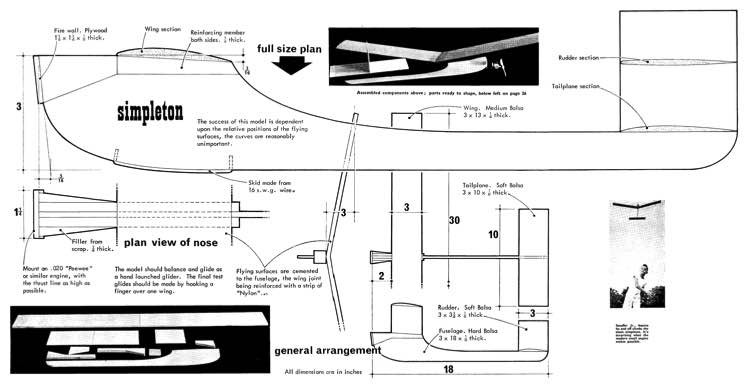 Simpleton model airplane plan