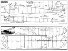 Simplex40 model airplane plan