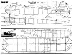 Simplex 40 model airplane plan