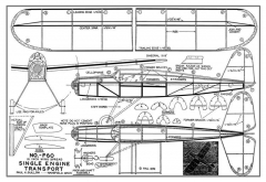Single Engine Transport model airplane plan