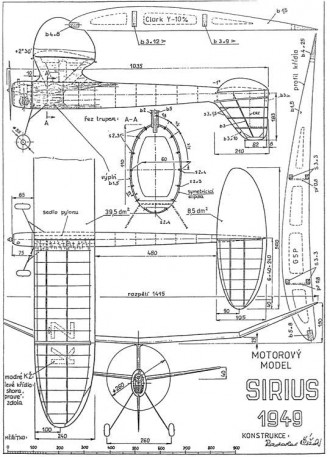 Sirius model airplane plan