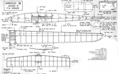 Sirocco III model airplane plan