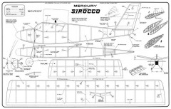 Sirocco Mercury model airplane plan