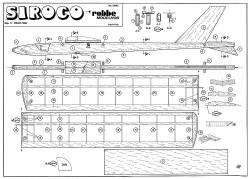 Siroco 1m model airplane plan