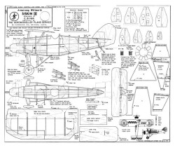 Siskin III model airplane plan