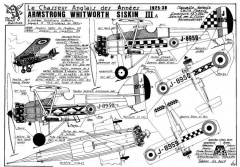 Siskin model airplane plan