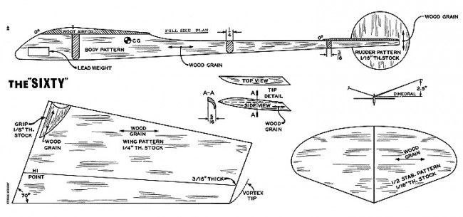 Sixty HLG-American-Modeler-08-67 model airplane plan