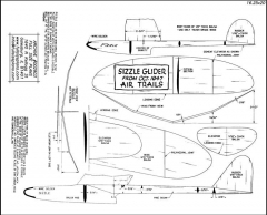 Sizzle glider model airplane plan