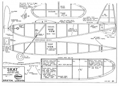 Skat 19in model airplane plan